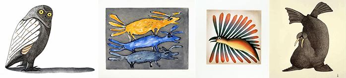 , Inuit Art, Eskimo Art, Inuit Prints, Cape Dorset, Pootogook, Kenojuak