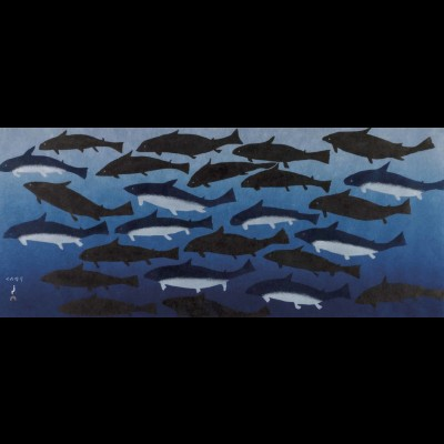 Blue Sharks, Tukkiki, Papiara, Cape Dorset, 2011 Print Collection