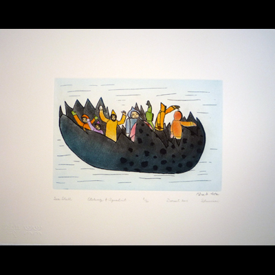 Sea Shell, Ashoona, Shuvinai, Cape Dorset, 2011 Print Collection